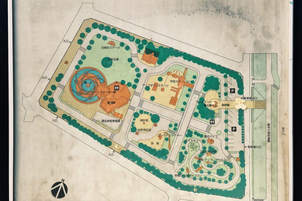 北沼公園案内図