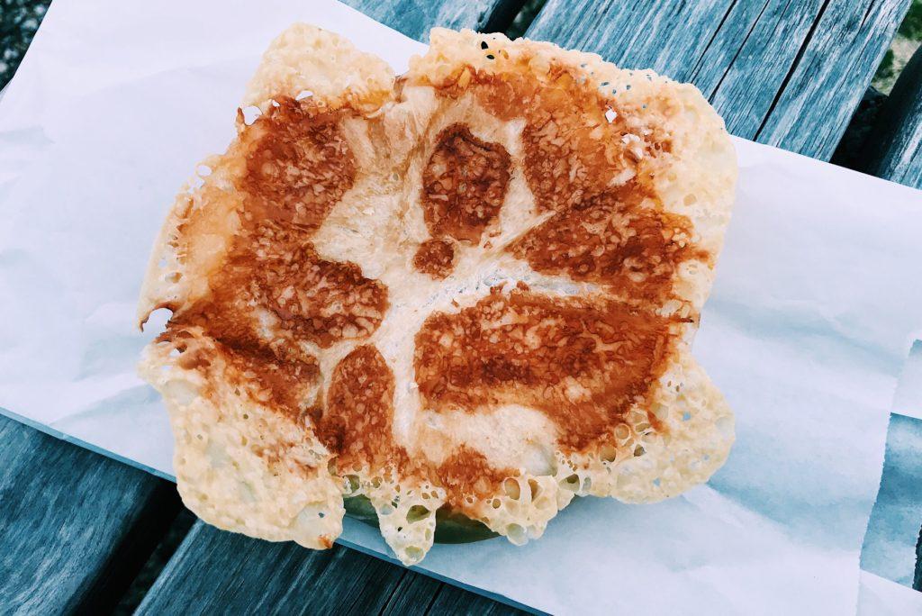 ブローチェの羽根つきチーズ豚まん 200円