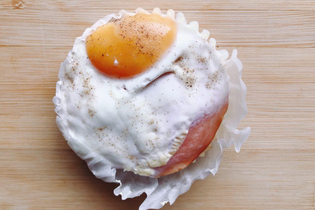 朝ごはんで食べたい、モーニングハムエッグ150円